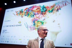 Vittorio Bo, presidente di Codice Edizioni e direttore del National Geographic Festival delle Scienze, alla conferenza stampa di presentazione del festival.