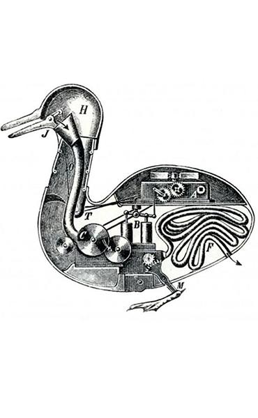 Il canard digérateur di Jacques de Vaucanson (1739)