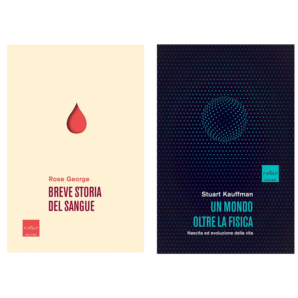 Codice edizioni: Breve storia del sangue e Un mondo oltre la fisica